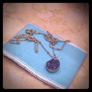 Alanna Bess purple druzy necklace